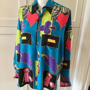 ❤️ Timney Fowler go/silk Print Shirt, sz S